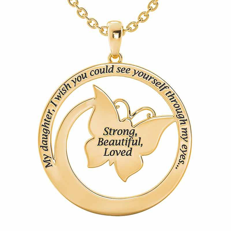 Strong Beautiful Loved Butterfly Pendant 6482 001 2 2