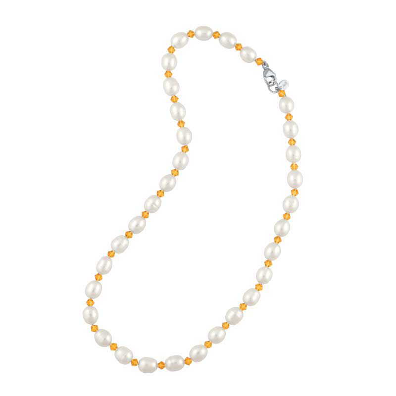 Birthstone and Pearl Necklace 1108 001 7 11