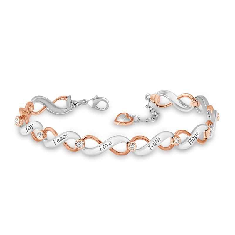 Healing Words Copper  Diamond Bracelet 1830 001 2 1