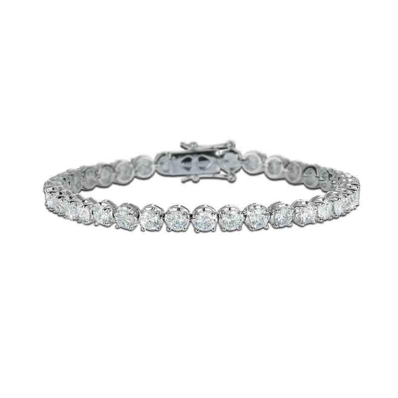 Simulated Diamond Tennis Bracelet 5132 003 4 1