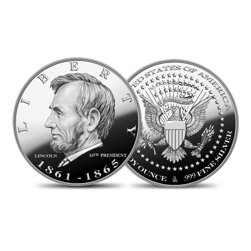 US Presidential Silver Commemoratives 9154 0088 e Lincolncommemorative