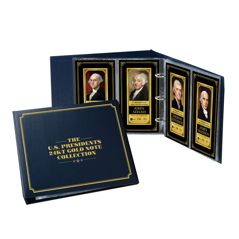 The U.S.Presidents 24kt Gold Note Collection 6662 0014 c album