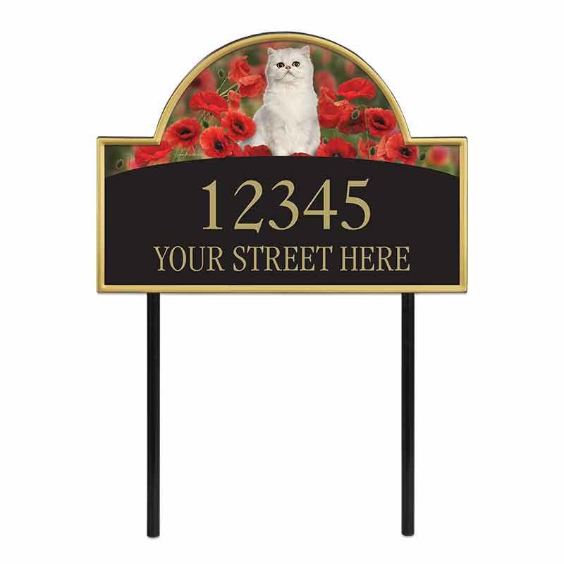 The Captivating Kitties Address Plaque by Simon Mendez 1088 008 6 1