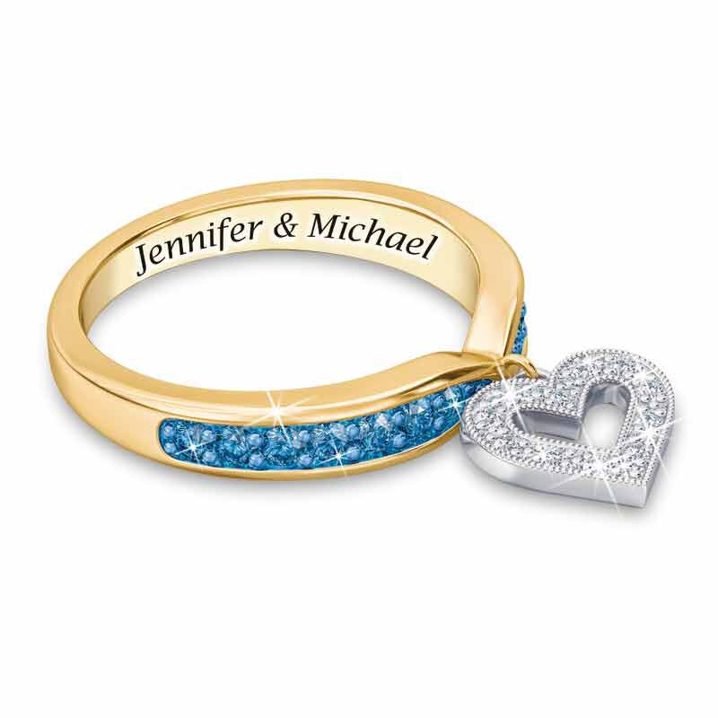 My Love Birthstone  Diamond Charm Ring 2145 001 0 12