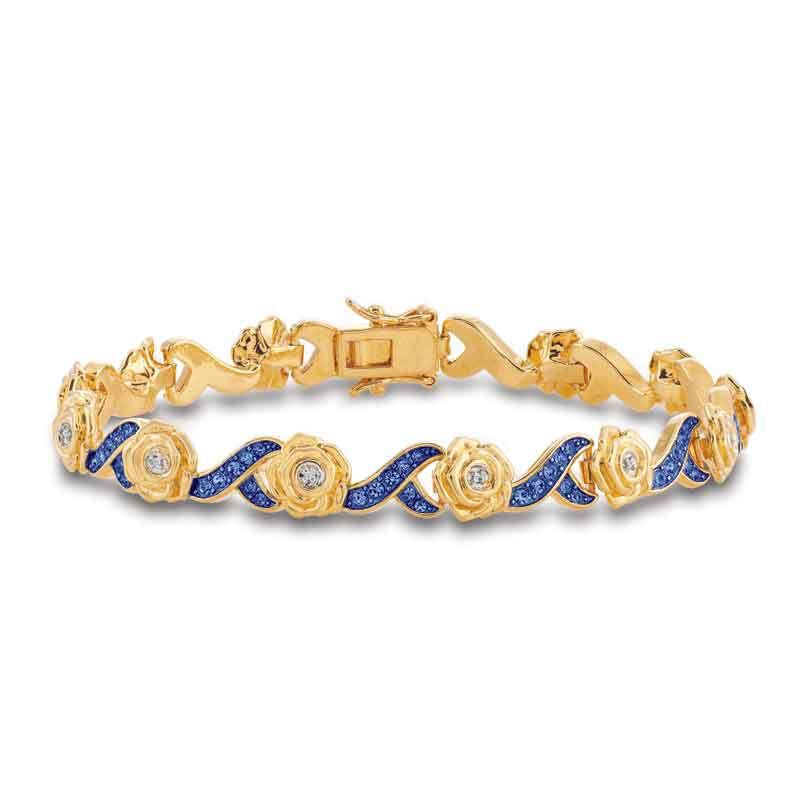 A Dozen Roses Birthstone  Diamond Bracelet 6684 001 8 4
