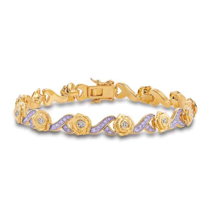 A Dozen Roses Birthstone  Diamond Bracelet 6684 001 8 1