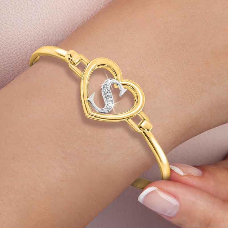 Simply Elegant Diamond Initial Bangle 6403 001 8 2
