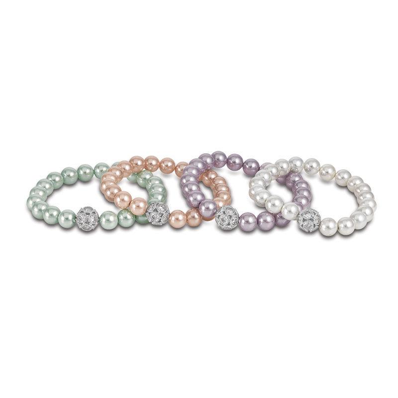 Pastel Perfection Shell Pearl Bracelet Set 6244 001 1 2
