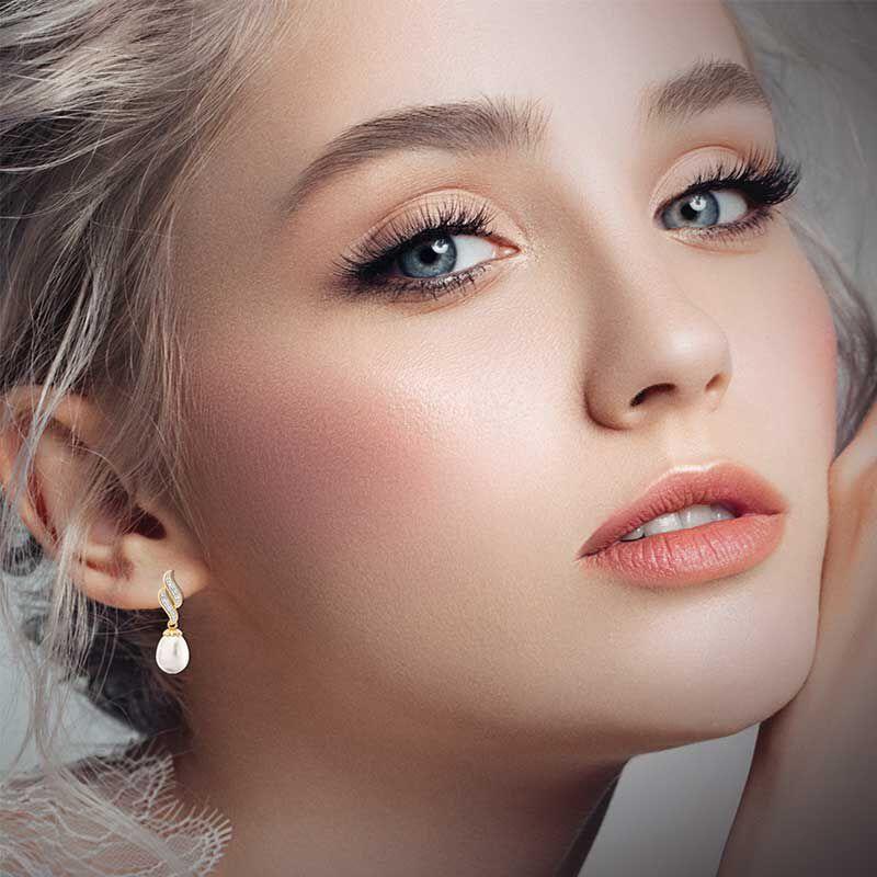 Diamond Waves Pearl Earrings 6163 001 8 3