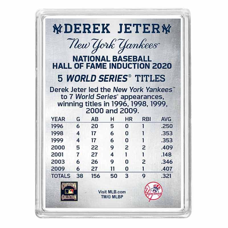 Derek Jeter Hall of Fame Silver Commemorative 6395 001 8 2