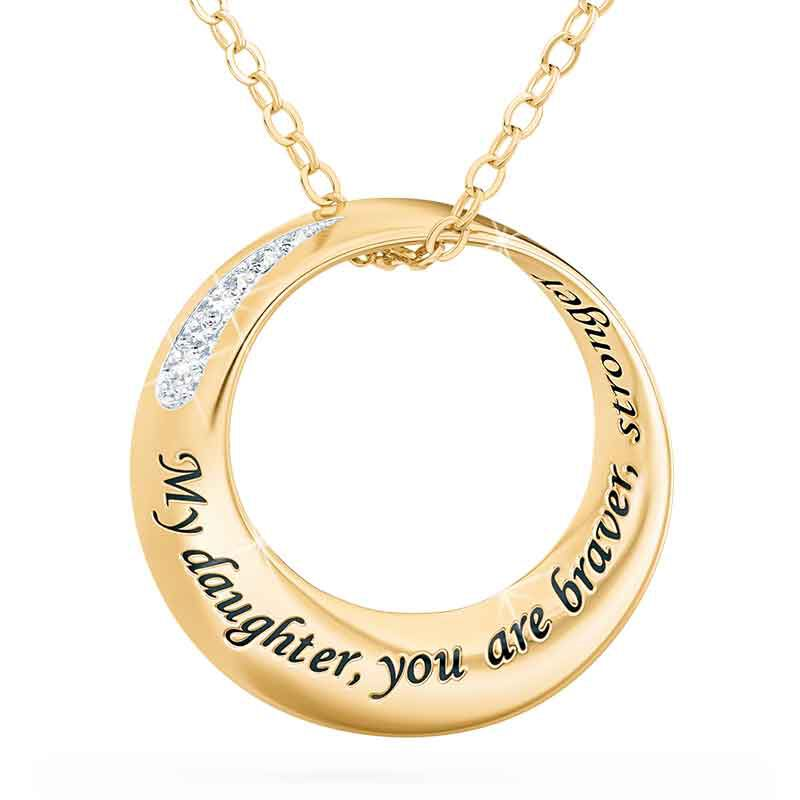 Daughter Infinity Circle Diamond Pendant 2031 001 7 1