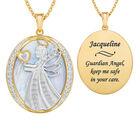 Guardian Angel Personalized Diamond Pendant 10114 0028 a main