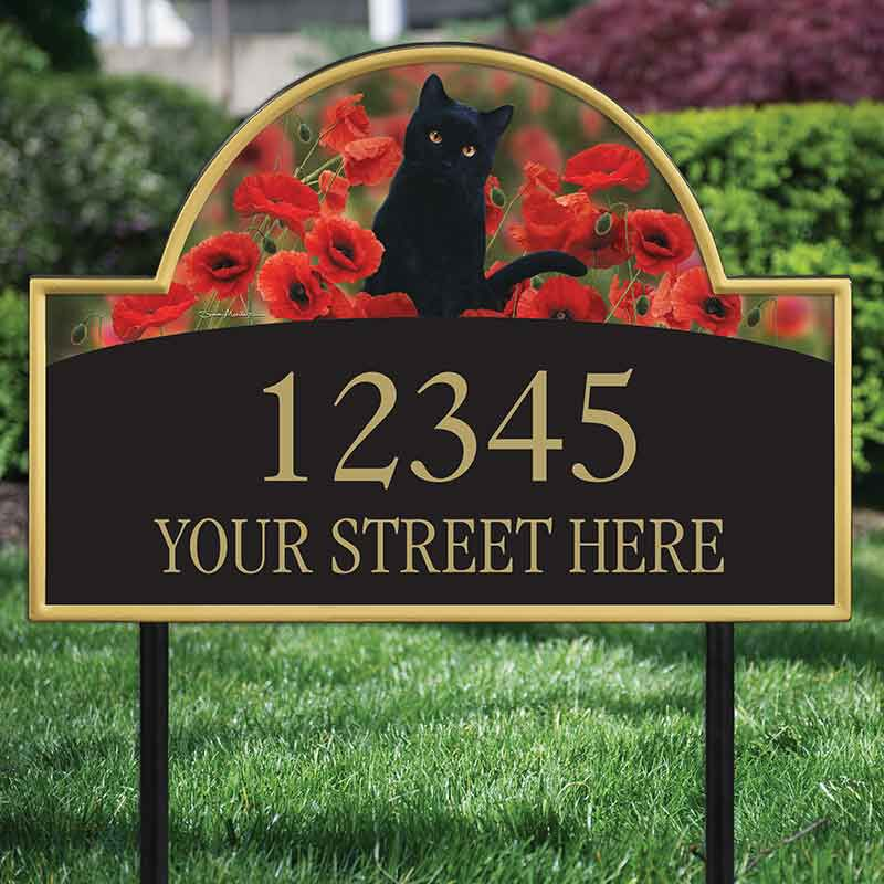 The Captivating Kitties Address Plaque by Simon Mendez 1088 002 9 2