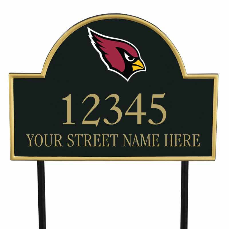 The NFL Personalized Address Plaque 5463 0355 h cardinals
