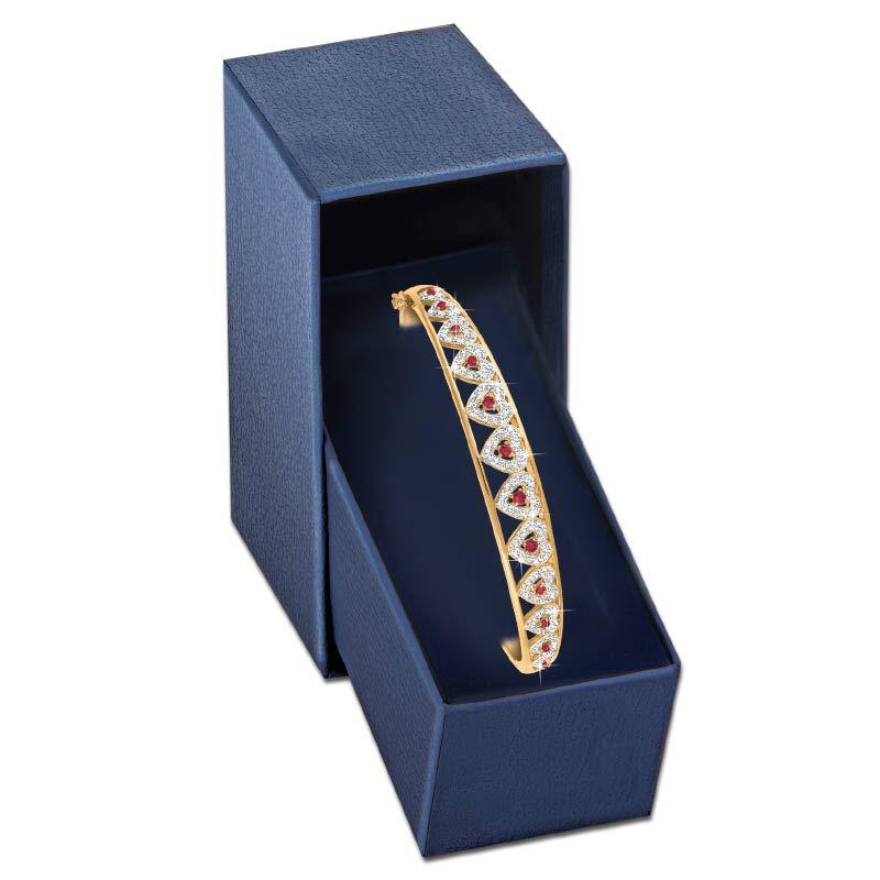 I Love You Ruby  Diamond Bangle 5291 001 5 4