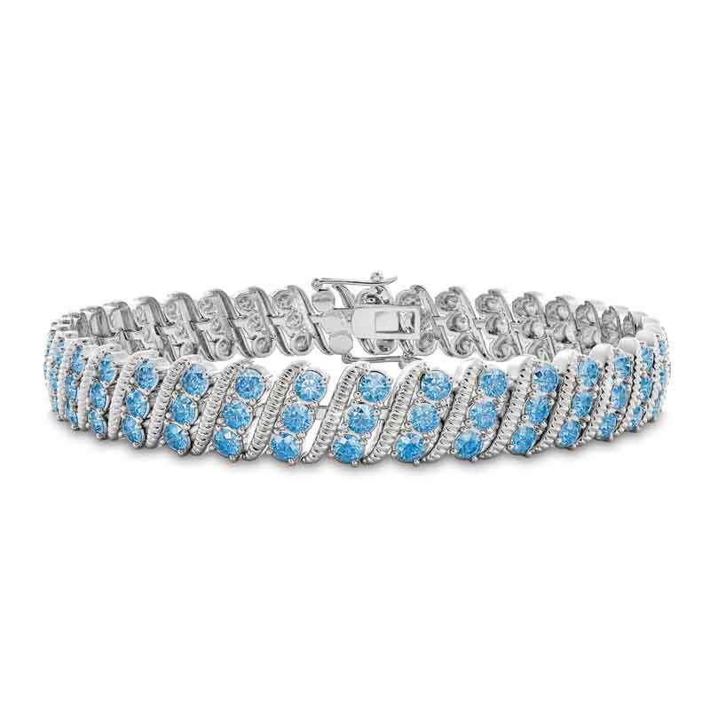 Bold  Brilliant Birthstone Bracelet 6003 001 2 12