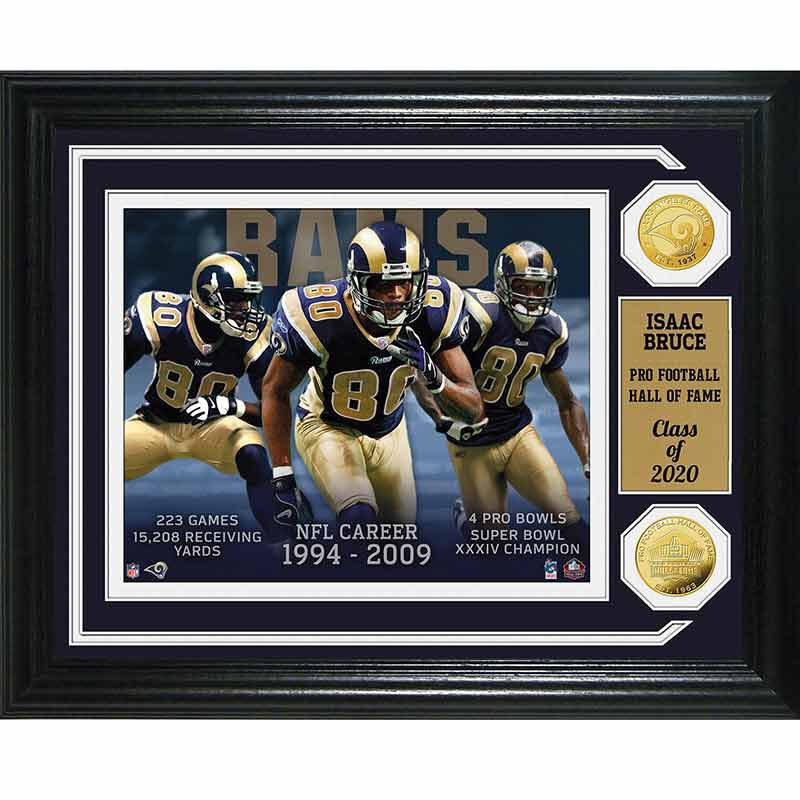 Isaac Bruce Hall of Fame Photo Collage 4391 160 1 1