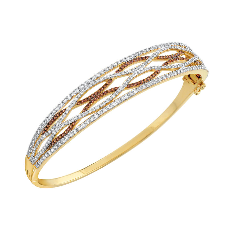 Mocha Swirl Diamonisse Bangle 6927 0015 b angel