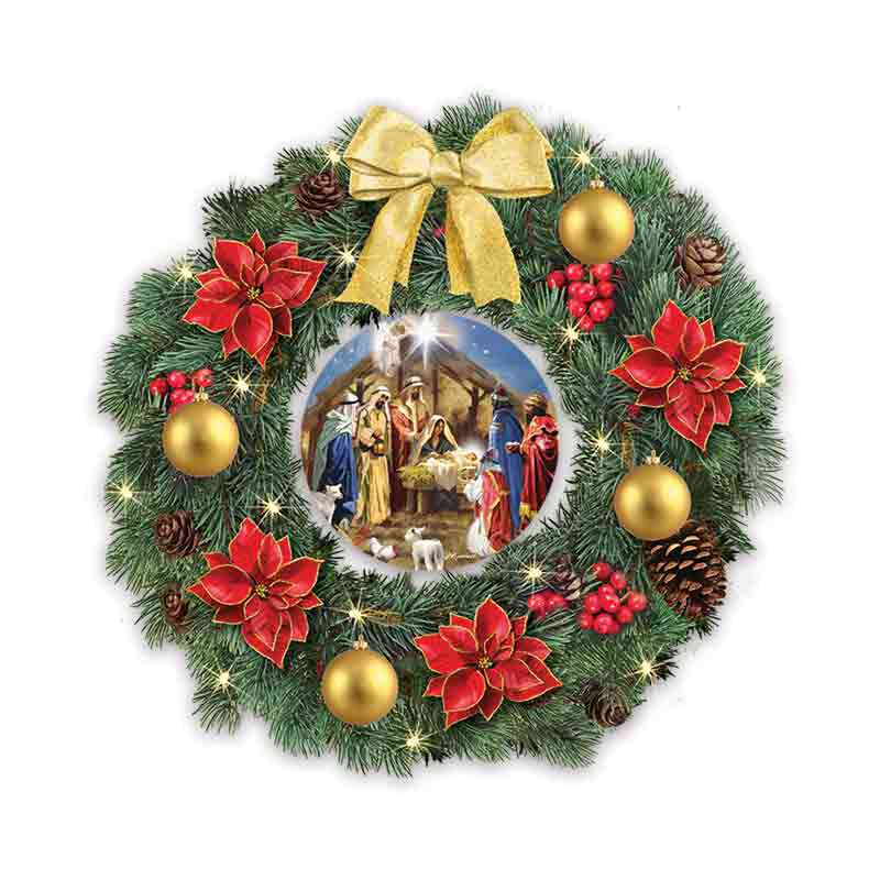 The Nativity Lit Christmas Wreath 1216 001 6 1