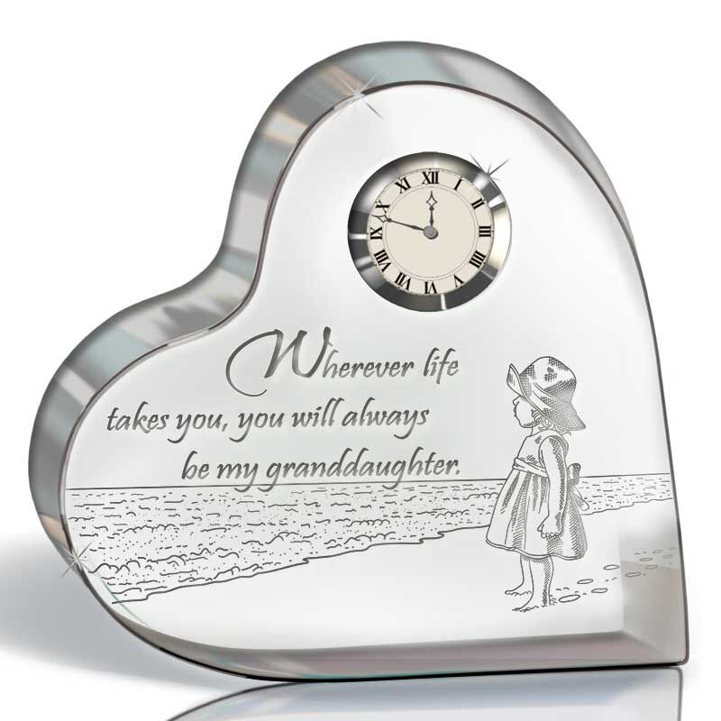 My Granddaughter Forever Crystal Desk Clock 4518 002 3 1