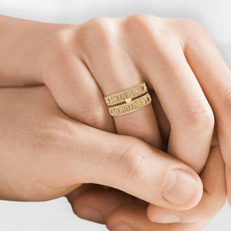 Mocha Kiss Stackable Ring Set 6478 001 8 3