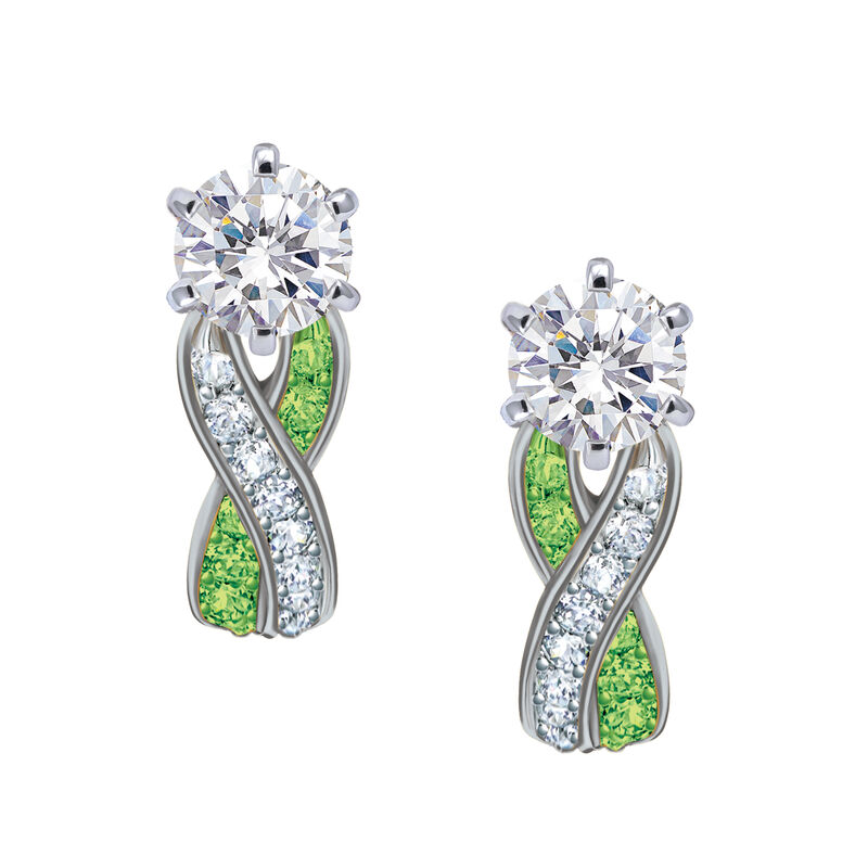 Birthstone Swirl Earrings 10115 0027 h august