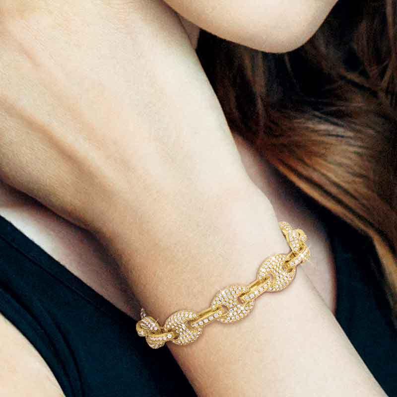 Sparkle of the Sea Mariners Link Bracelet 6317 001 3 4