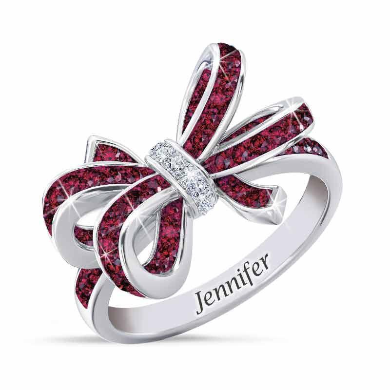 Birthstone  Diamond Bow Ring 1876 001 7 1