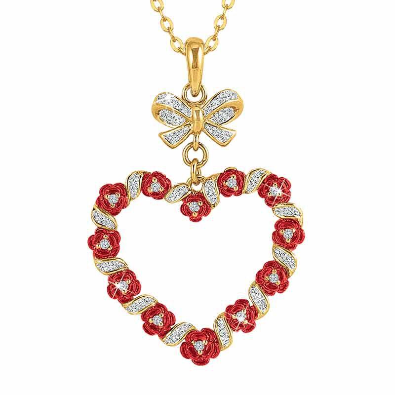 A Dozen Roses Diamond Heart Pendant 6242 001 3 1