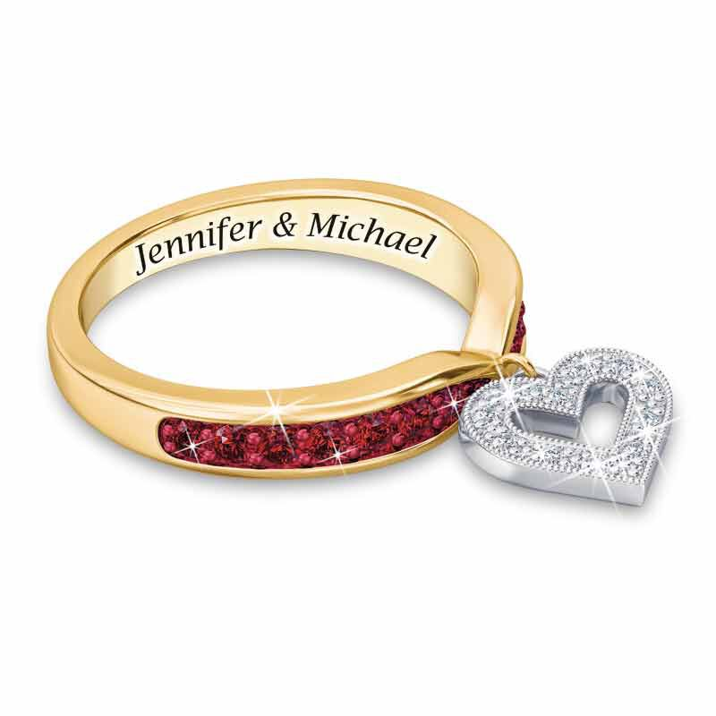 My Love Birthstone  Diamond Charm Ring 2145 001 0 7