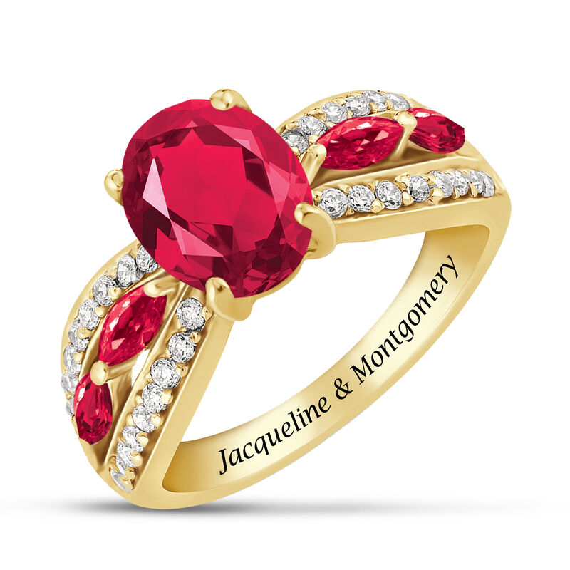 Ruby Red Ravishing Personalized Ring 10103 0013 a main