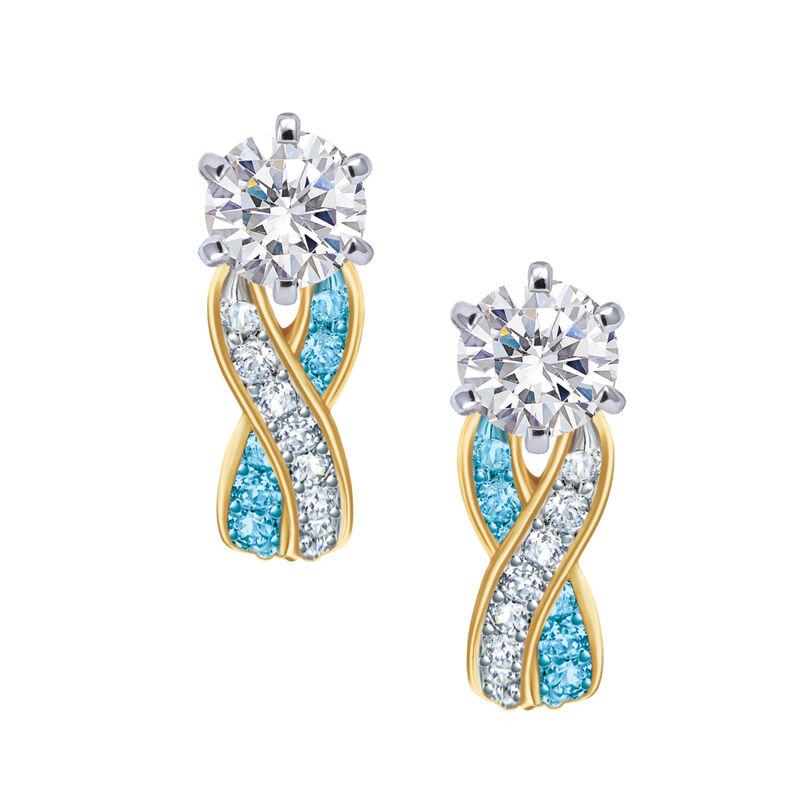 Birthstone Swirl Earrings 6243 0038 l december