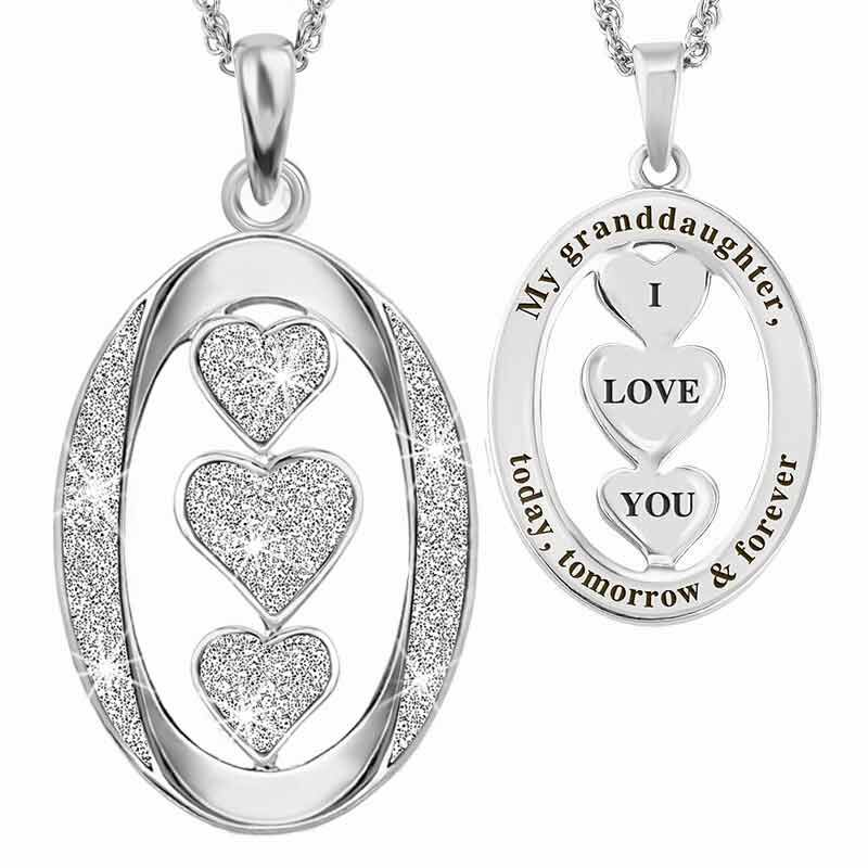 Granddaughter I Love You Diamond Pendant 1887 001 4 1