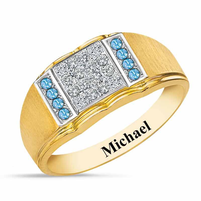 Birthstone Diamond Ring 5211 001 2 3