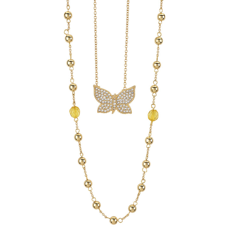 Layers of Sparkle Crystal Necklace Collection 10027 0016 f june