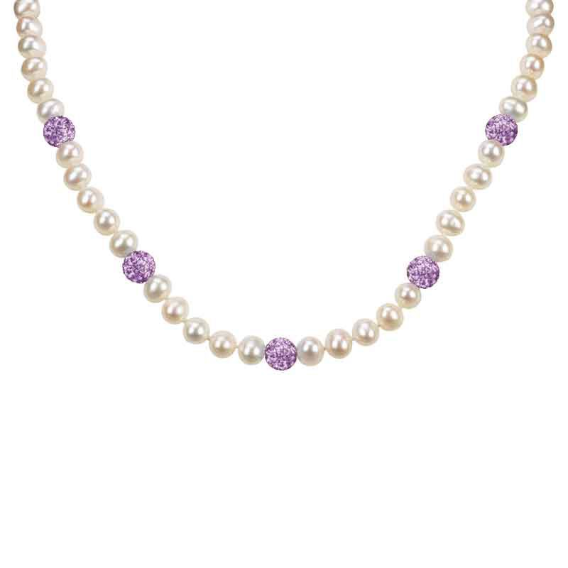 Bedazzled with Birthstones Pearl Necklace 5106 001 0 6