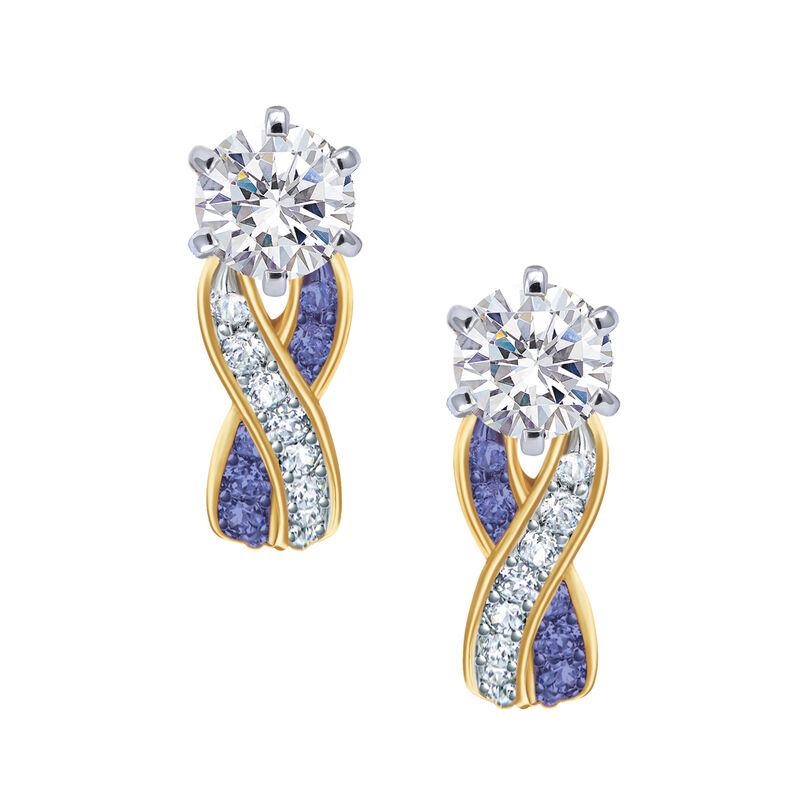 Birthstone Swirl Earrings 6503 0033 b february
