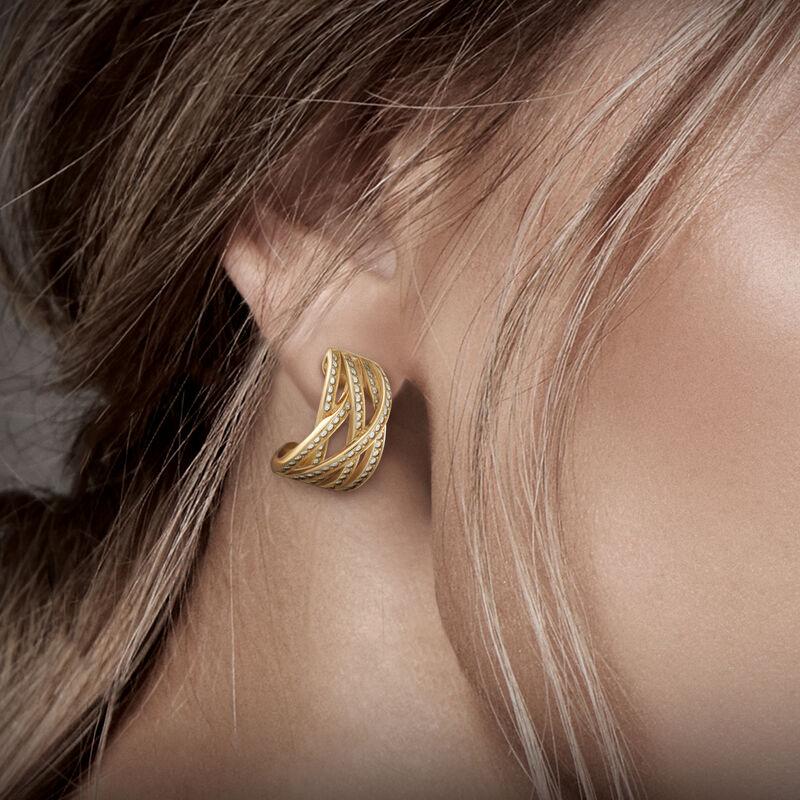 The Golden Swirl Diamonisse Earrings 6362 0017 m model