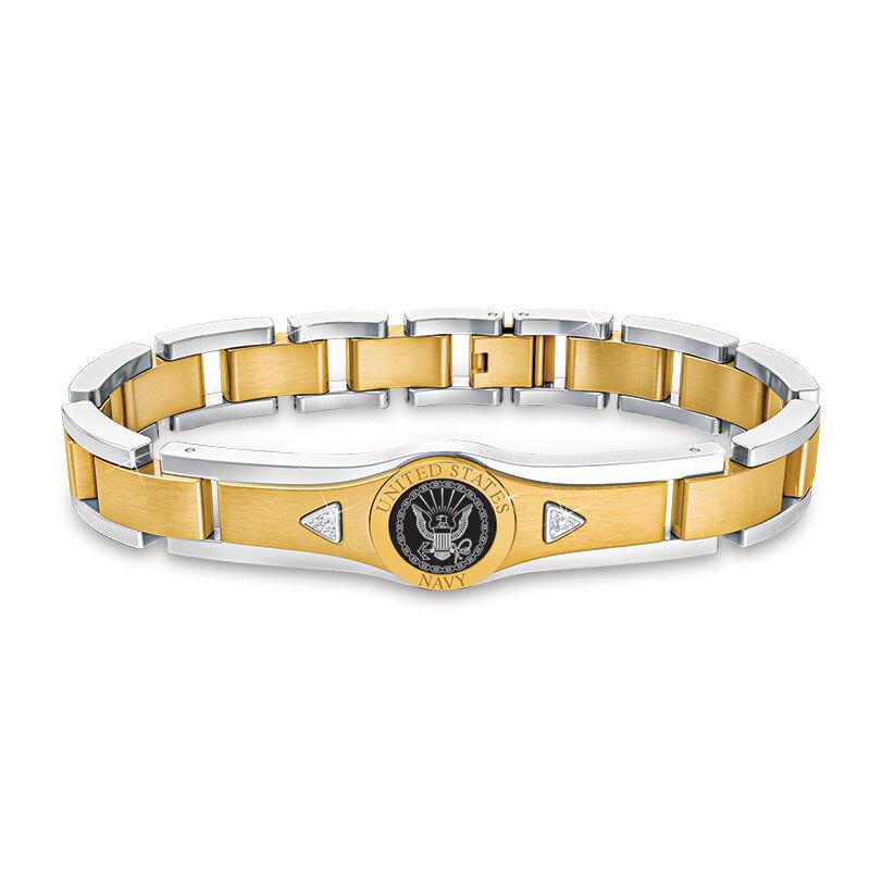 US Navy Personalized Diamond Bracelet 5787 004 0 1