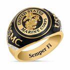 US Marines Onyx  Diamond Ring 6282 001 4 1