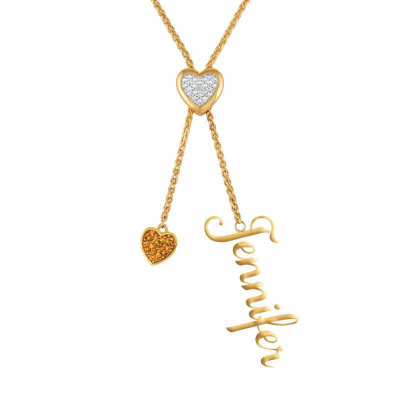 Daughter Personalized Birthstone Bolo Necklace 6525 001 1 5