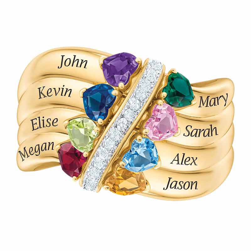 Many Hearts One Family Birthstone Ring 6521 002 3 3