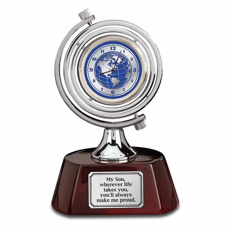 Son Youll Always Make Me Proud Globe Desk Clock 6429 001 8 1