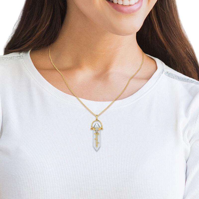 Personalized Healing Crystal Diamond Quartz Pendant 10447 0018 m model
