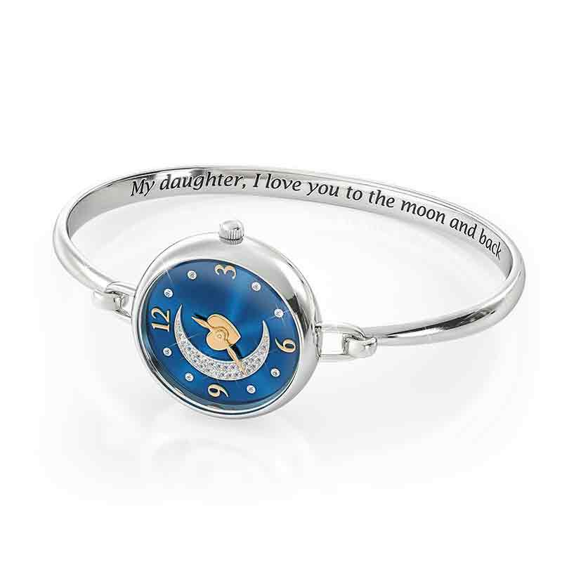 My Daughter I Love You to the Moon and Back Crystal Watch 2405 001 5 3