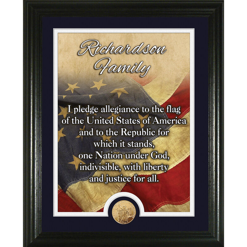 American Flag Pledge of Allegiance Personalized Print 1532 0062 a main