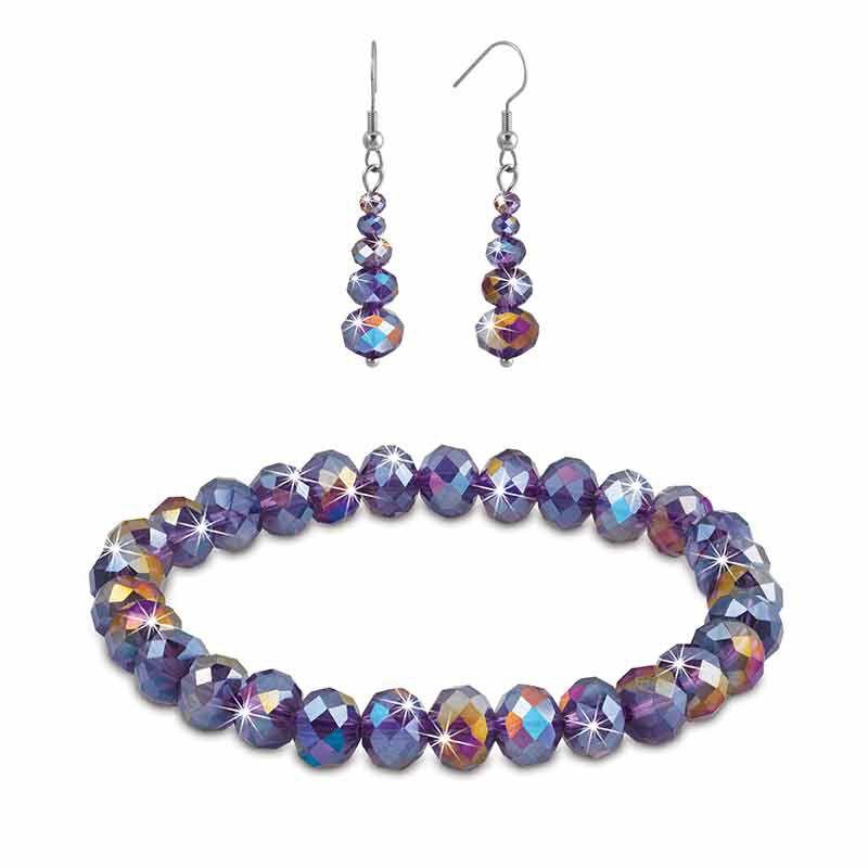 Mystic Glow Crystal Bracelet  Earring Set 5390 007 2 1