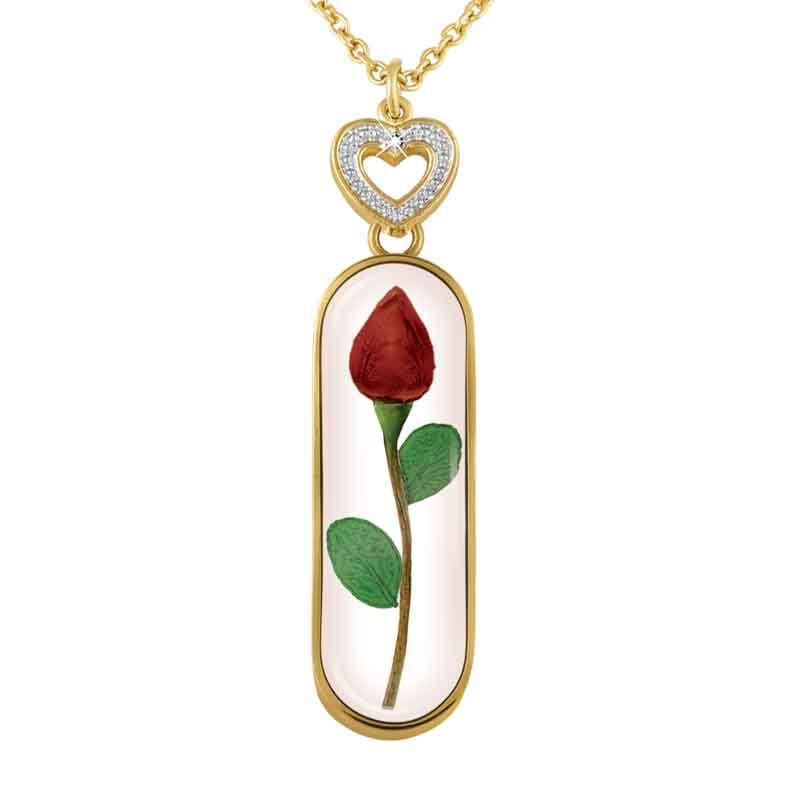 Rose Bud Personalized Diamond Pendant 1170 009 3 2