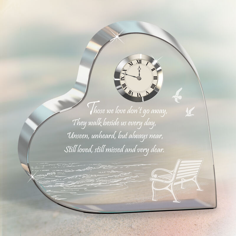 Always in My Heart Crystal Desk Clock 4655 0026 m room