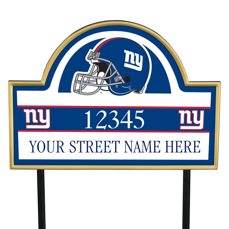 NFL Pride Personalized Address Plaques 5463 0405 a giants